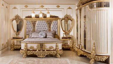 Lüks Cenova Klasik Yatak Odası - Thumbnail