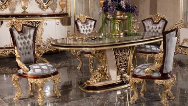 Lüks Cenova Klasik Yemek Odası - Thumbnail