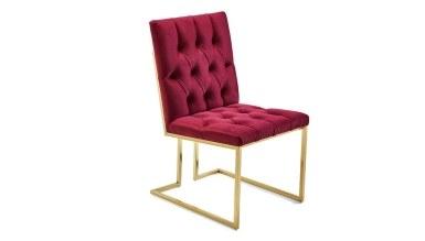 920 - Lüks Cey Sarı Ayaklı Sandalye