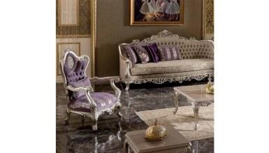 Lüks Diana Art Deco Koltuk Takımı - Thumbnail