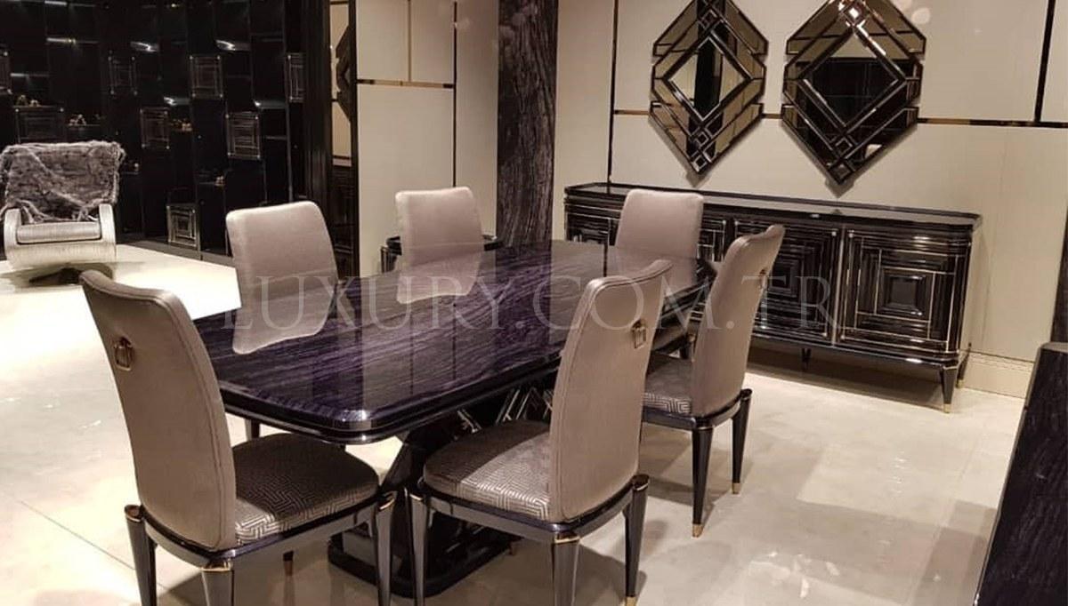 Lüks Diore Metal Yemek Odası