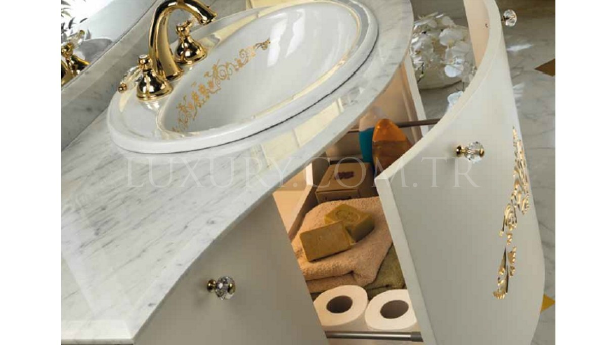 Lüks Dukyor Altın Varaklı Banyo Takımı
