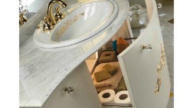 Lüks Dukyor Altın Varaklı Banyo Takımı - Thumbnail