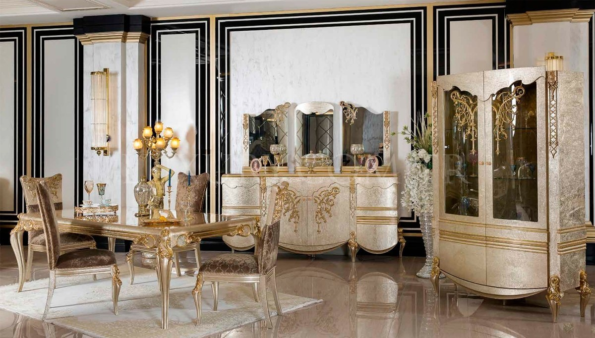 Lüks Elira Klasik Yemek Odası