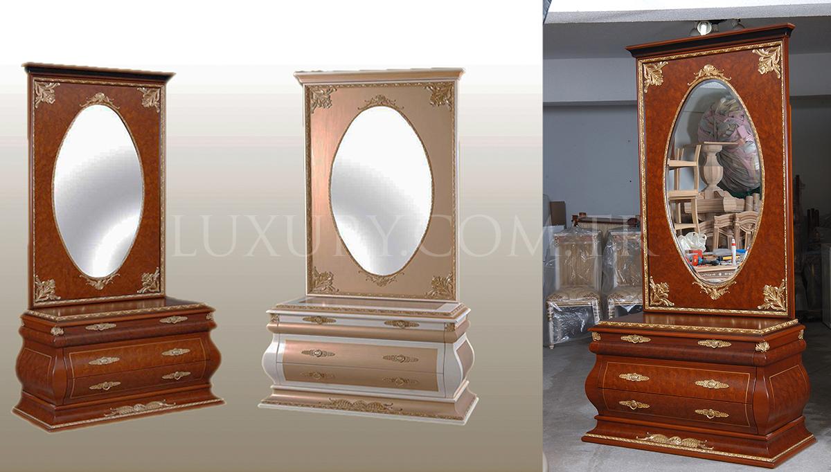 Lüks Elit Bronz Ayna