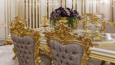Lüks Esvatini Klasik Yemek Odası - Thumbnail