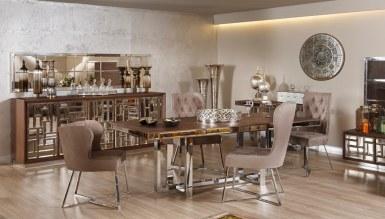 768 - Lüks Etrosa Metal Yemek Odası
