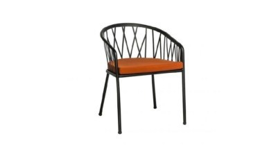 Lüks Finley Metal Ayaklı Sandalye