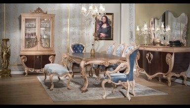 806 - Lüks Fırat Kahverengi Yemek Odası