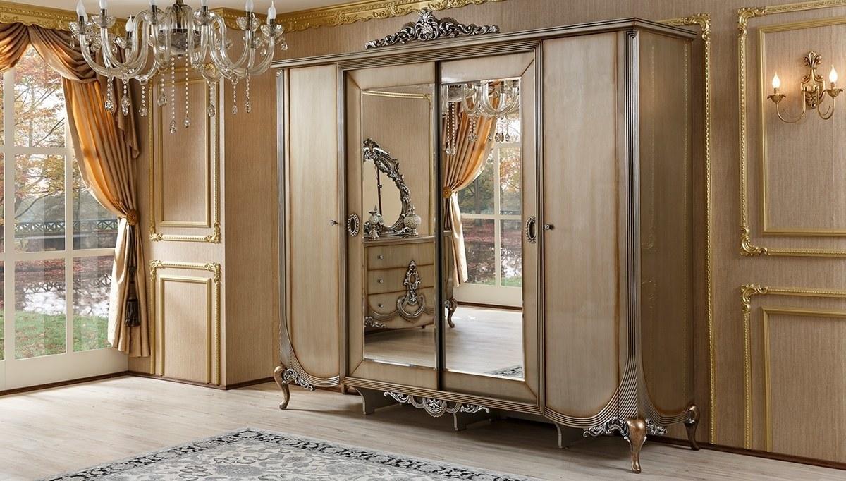 Lüks Firaye Klasik Yatak Odası