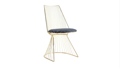 1008 - Lüks Gostavo Metal Ayaklı Sandalye