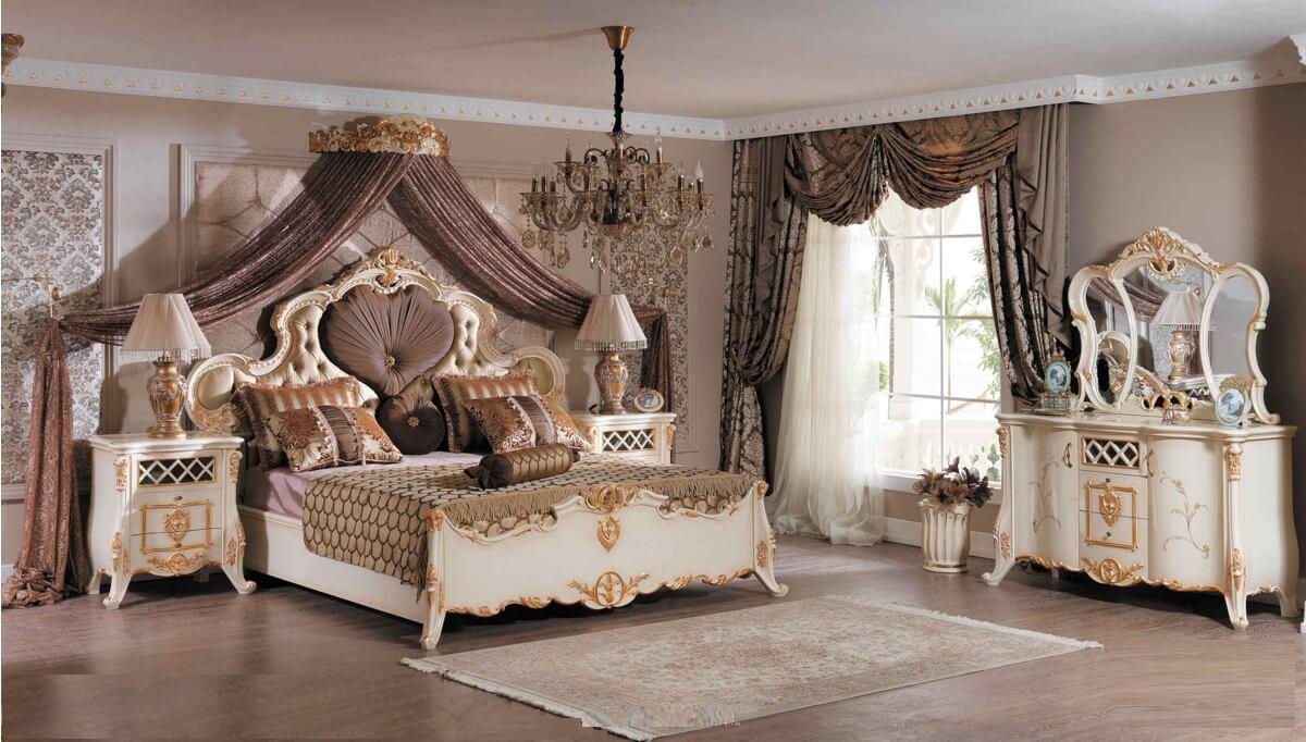 Lüks Grand Klasik Yatak Odası