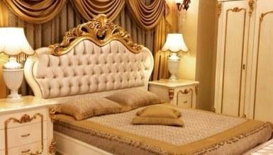 Lüks Hansoy Beyaz Klasik Yatak Odası - Thumbnail