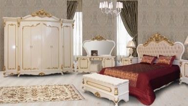 729 - Lüks Hansoy Beyaz Klasik Yatak Odası