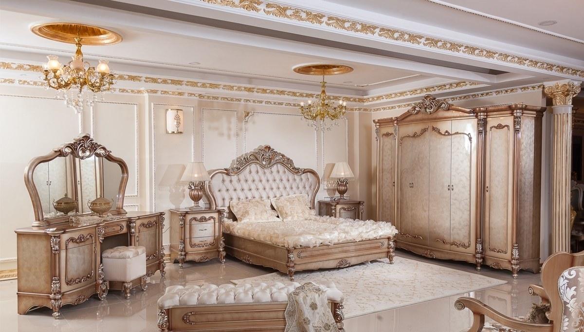 Lüks Hansoy Bronz Klasik Yatak Odası