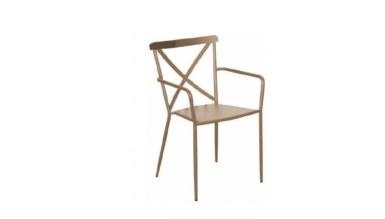 Lüks Hena Metal Ayaklı Sandalye
