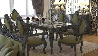 Lüks Hermano Klasik Yemek Odası - Thumbnail