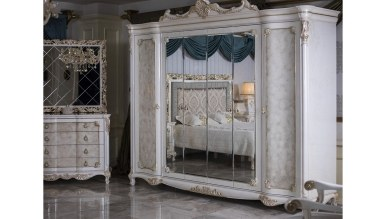 Lüks Hisar Klasik Yatak Odası - Thumbnail