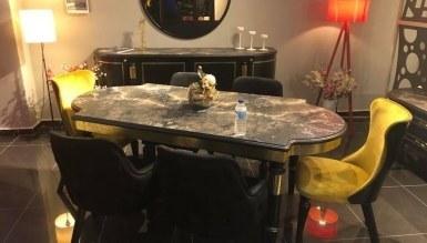 876 - Lüks İskenderiye Art Deco Yemek Odası
