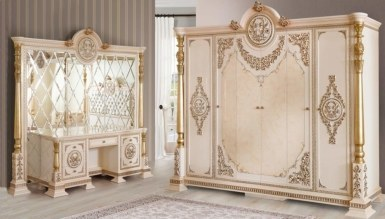 Lüks Kavesa Klasik Yatak Odası - Thumbnail