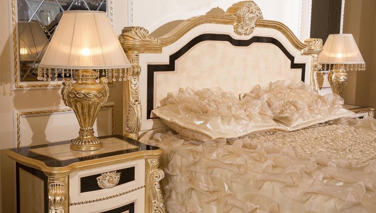Lüks Kaldore Desenli Klasik Yatak Odası