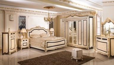 729 - Lüks Kaldore Desenli Klasik Yatak Odası