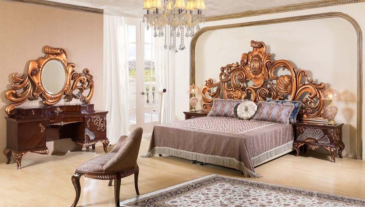 Lüks Kandela Klasik Yatak Odası