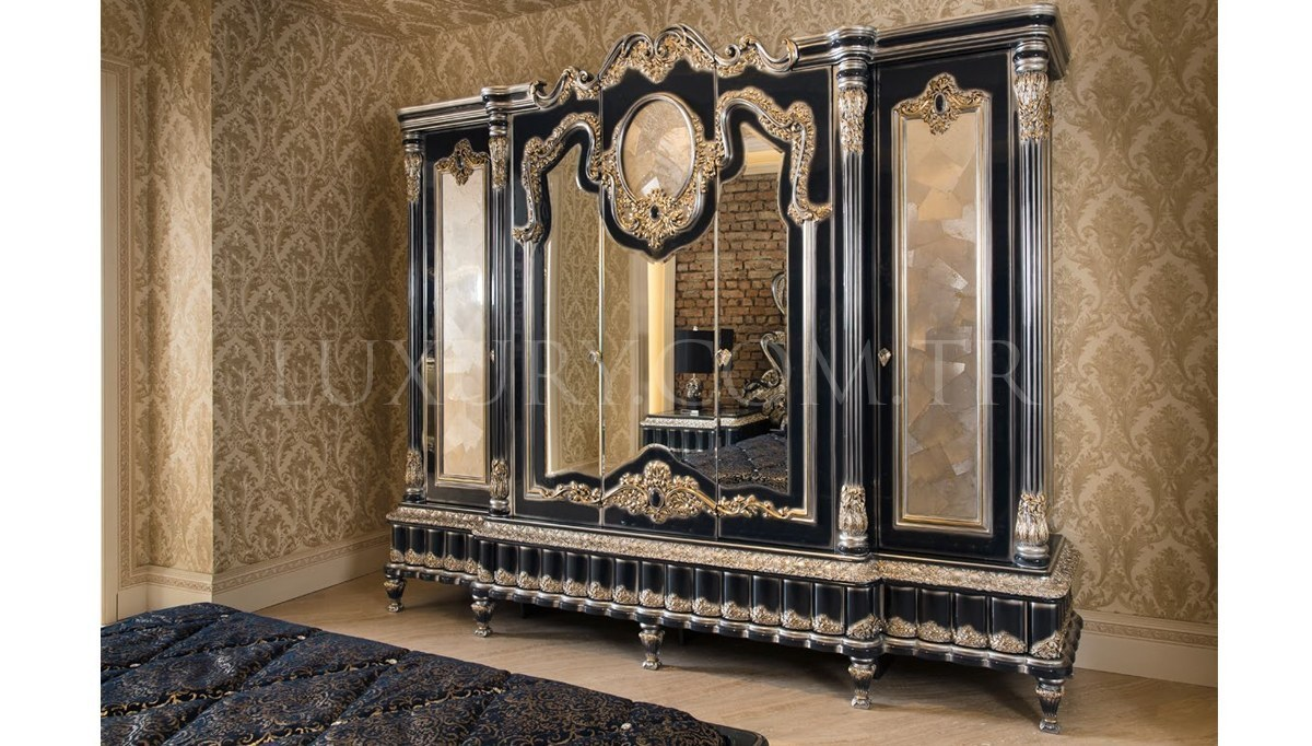 Lüks Kasablanka Klasik Yatak Odası