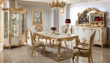 Lüks Kayıhan Desenli Klasik Yemek Odası - Thumbnail