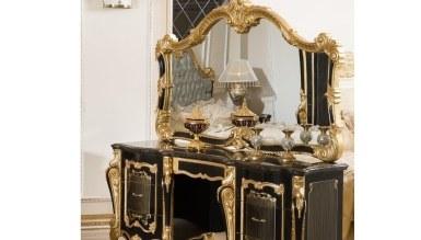 Lüks Kayıhan Siyah Klasik Yatak Odası - Thumbnail