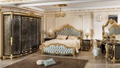 729 - Lüks Kayıhan Siyah Klasik Yatak Odası