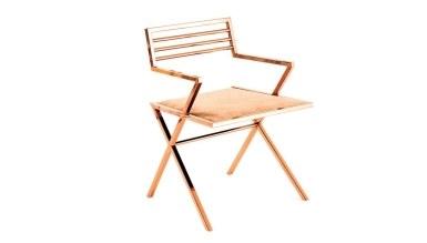 920 - Lüks Kayır Metal Kollu Sandalye