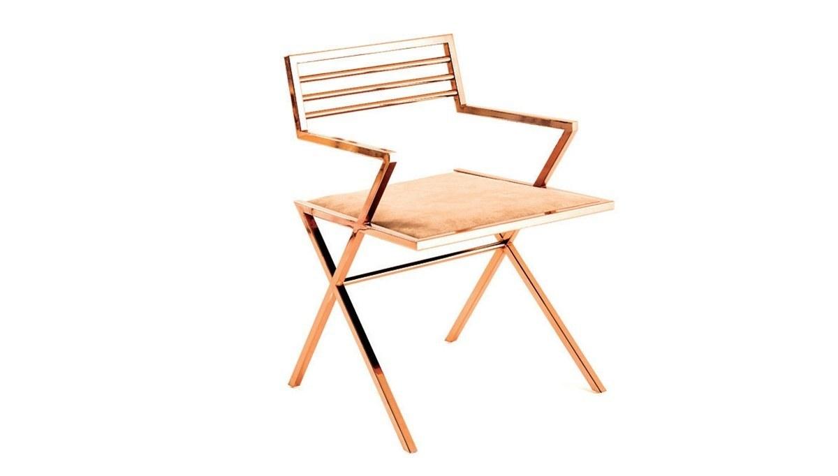 Lüks Kayır Metal Kollu Sandalye