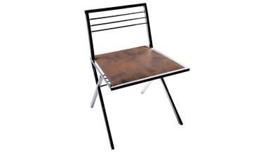 920 - Lüks Kayır Metal Kolsuz Sandalye