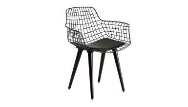 920 - Lüks Kısa Zara Ahşap Ayaklı Sandalye