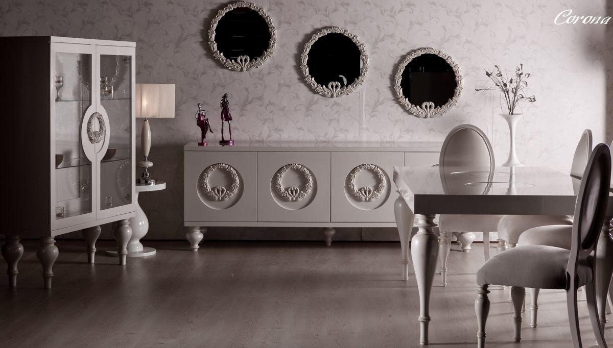 Lüks Klasik Moda Beyaz Yemek Odası