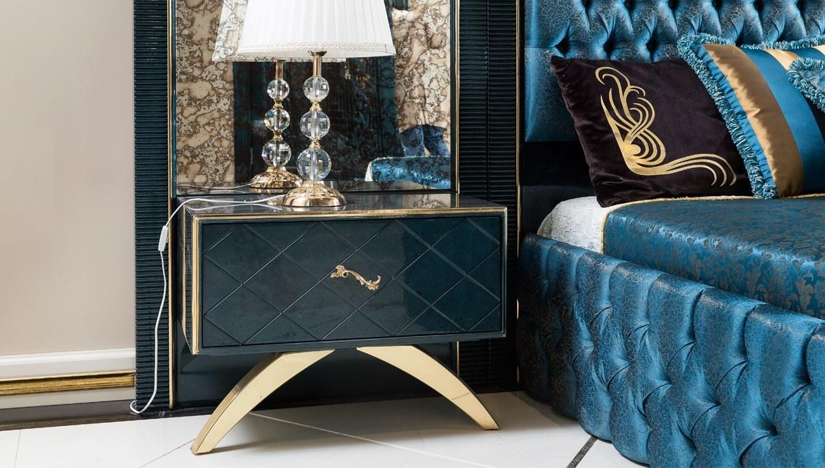 Lüks Kordon Art Deco Yatak Odası