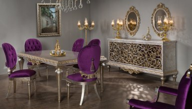 Lüks Kral Art Deco غرفة الطعام