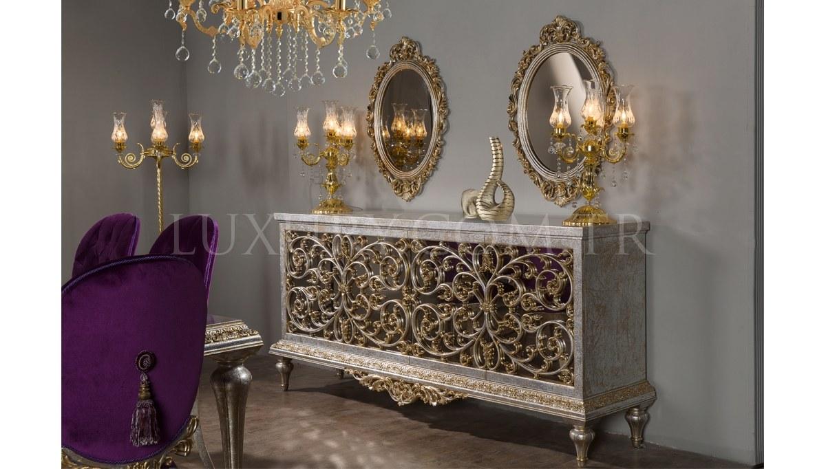 Lüks Kral Art Deco Yemek Odası