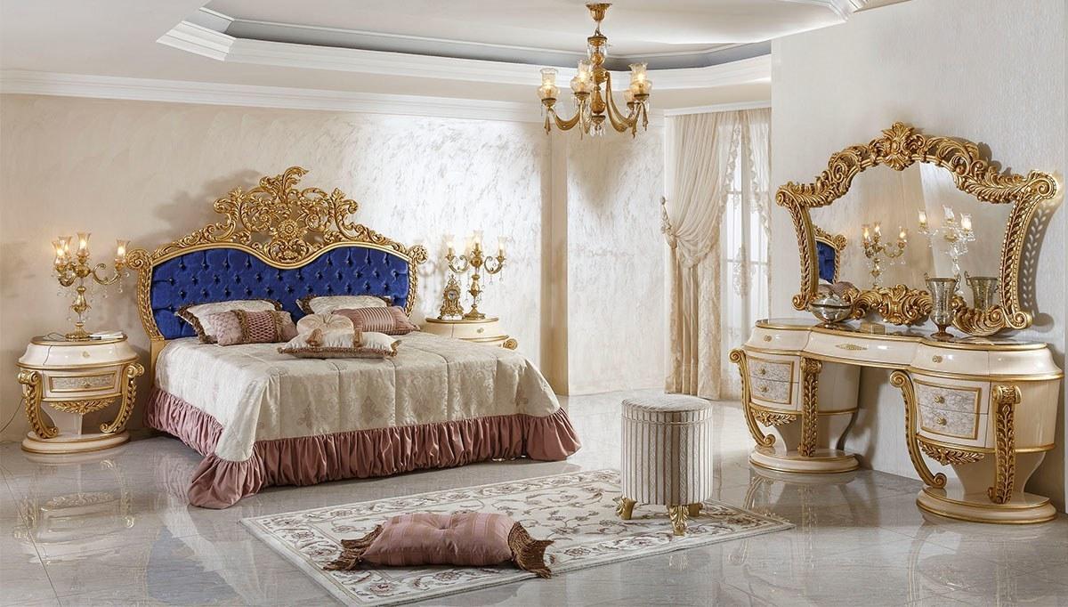 Lüks Lalezar Lake Oymalı Klasik Yatak Odası