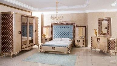 Lüks Lavanta Klasik Yatak Odası