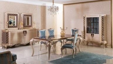525 - Lüks Lavanta Klasik Yemek Odası