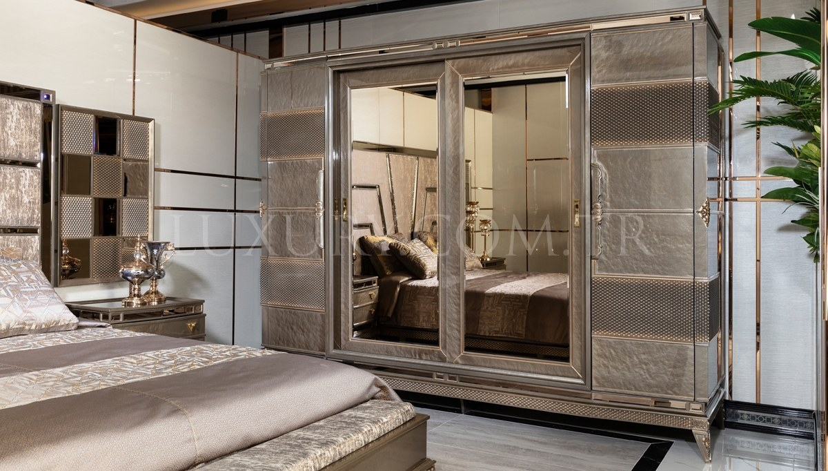 Lüks Lavena Art Deco Yatak Odası