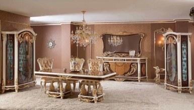 623 - Lüks Layon Bronz Yemek Odası