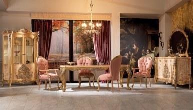 958 - Lüks Lenarde Klasik Yemek Odası