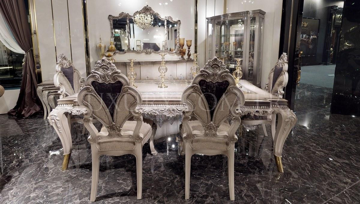 Lüks Leonar Klasik Yemek Odası
