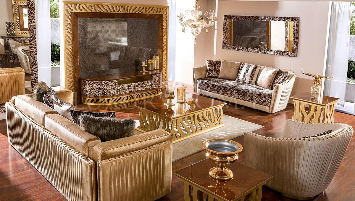 Lüks Leopar Luxury Koltuk Takımı