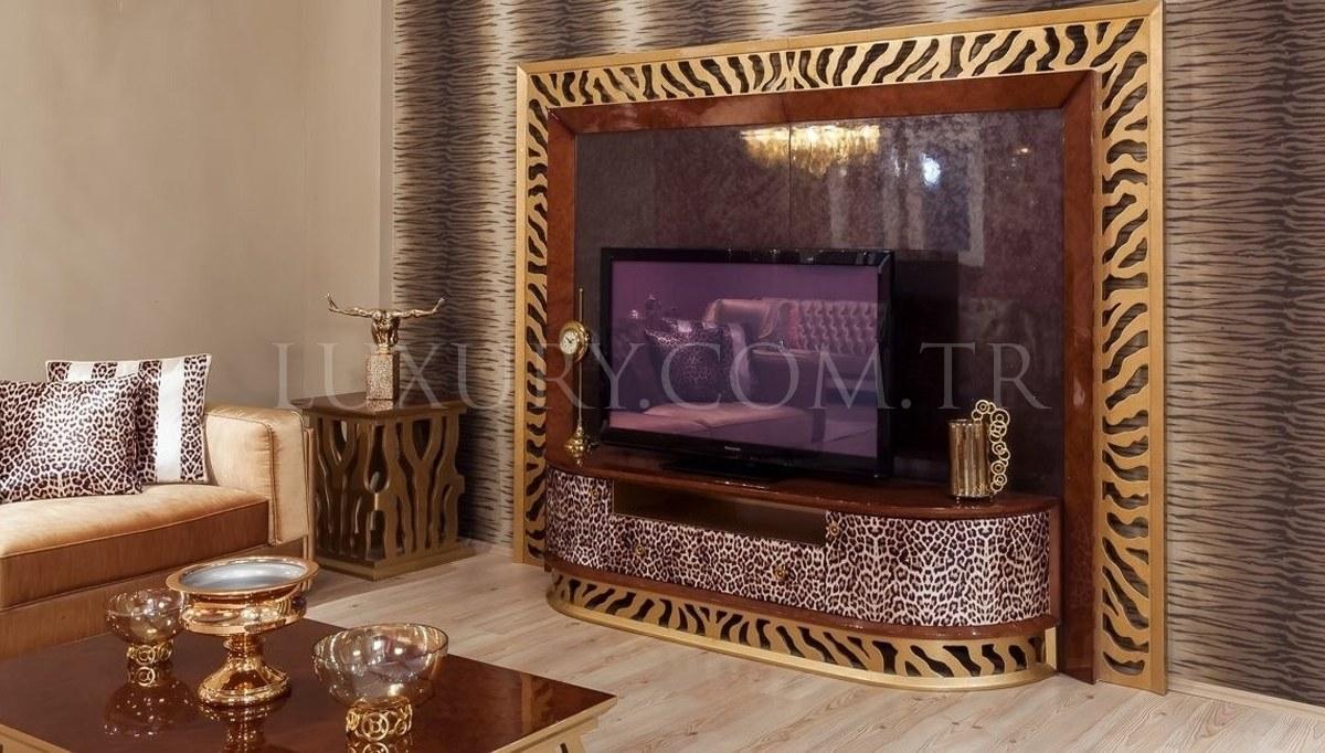Lüks Leopar Luxury TV Ünitesi