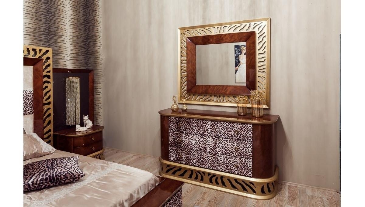 Lüks Leopar Klasik Yatak Odası