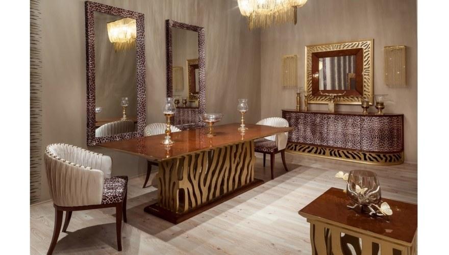 Lüks Leopar Klasik Yemek Odası - Thumbnail